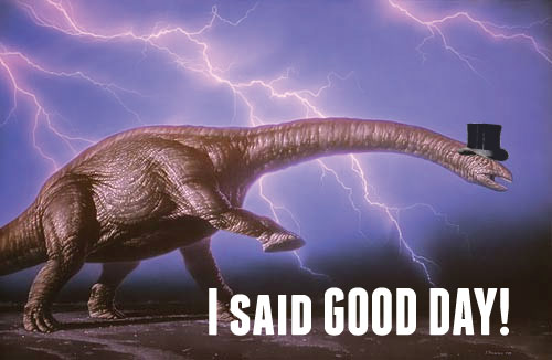 Dapper Brontosaur is clearly unhappy with this news.