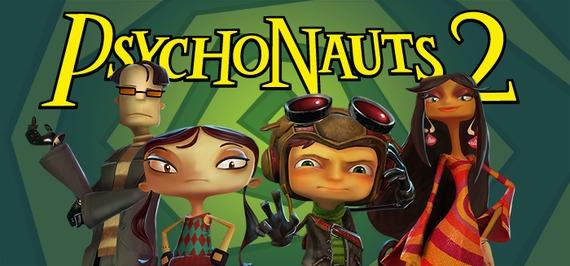 The cast of the upcoming Psychonauts 2: Sasha Nein, Lili Zanotto, Razputin Aquato, and Milla Vodello.