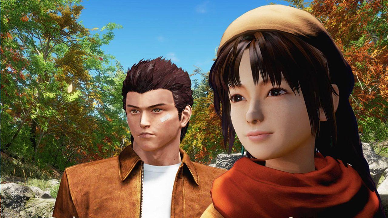 Screenshot of Ryo and Shenhua from the upcoming Shenmue 3.