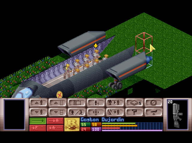 The top-down isometric view is how the strategic combat of X-COM plays out.