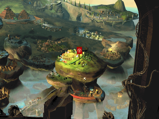 Dungeon Keeper's idyllic fantasy land, ready to become corrupted from below.