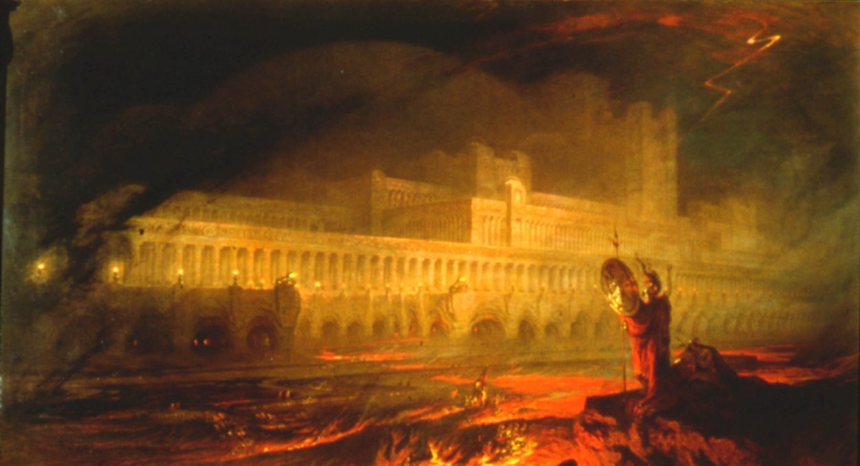 Pandemonium, the capital of Hell from Milton's Paradise Lost, the seat of one of the greatest villains in history.