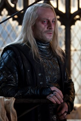 Lucius Malfoy, looking haggard after being released from Azkaban.