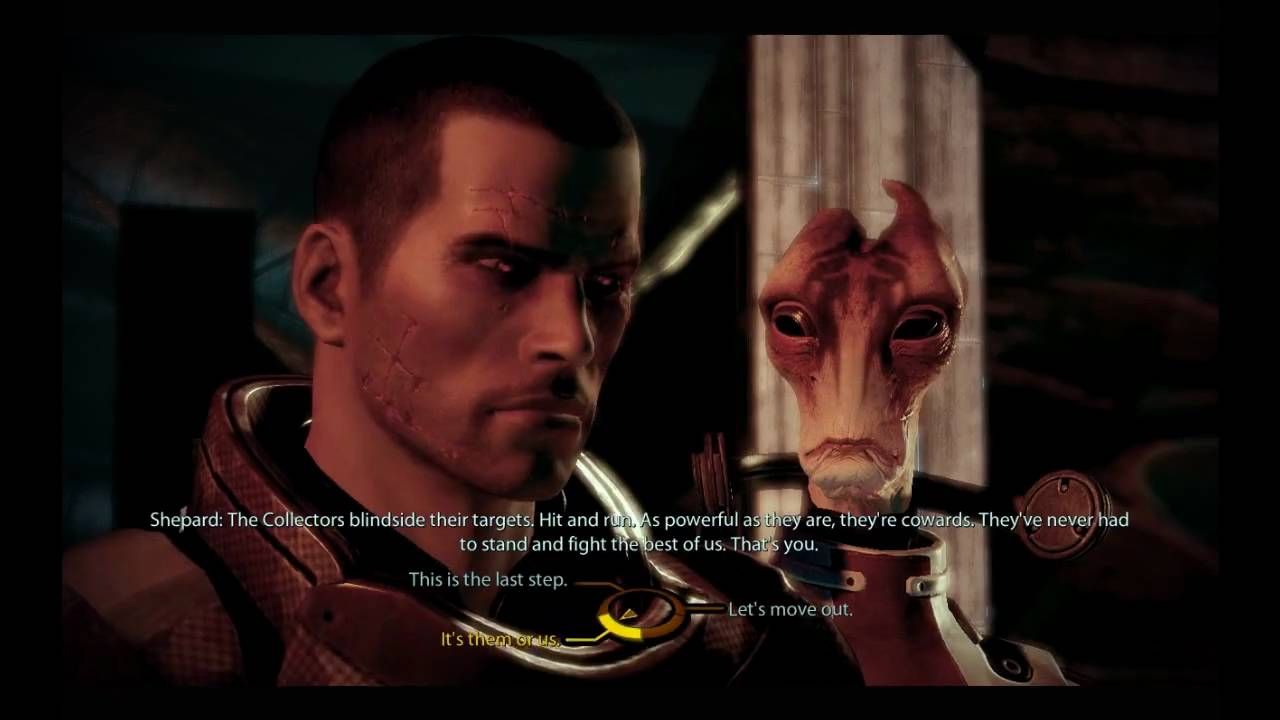 "Choosing the ""Renegade"" option in Mass Effect will often have more violent outcomes than the ""Paragon"" choice."