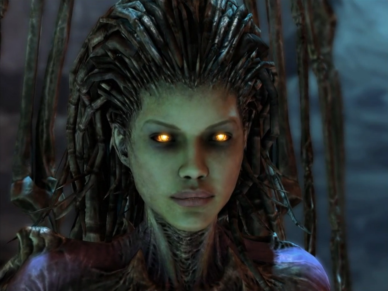 Kerrigan, Queen of the Swarm, was once human. Now, vengeance fuels her every action.