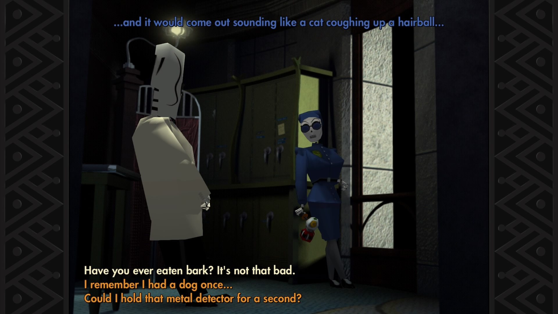 Grim Fandango Remastered has some truly brilliant dialogue that is often muddled by obtuse puzzles.