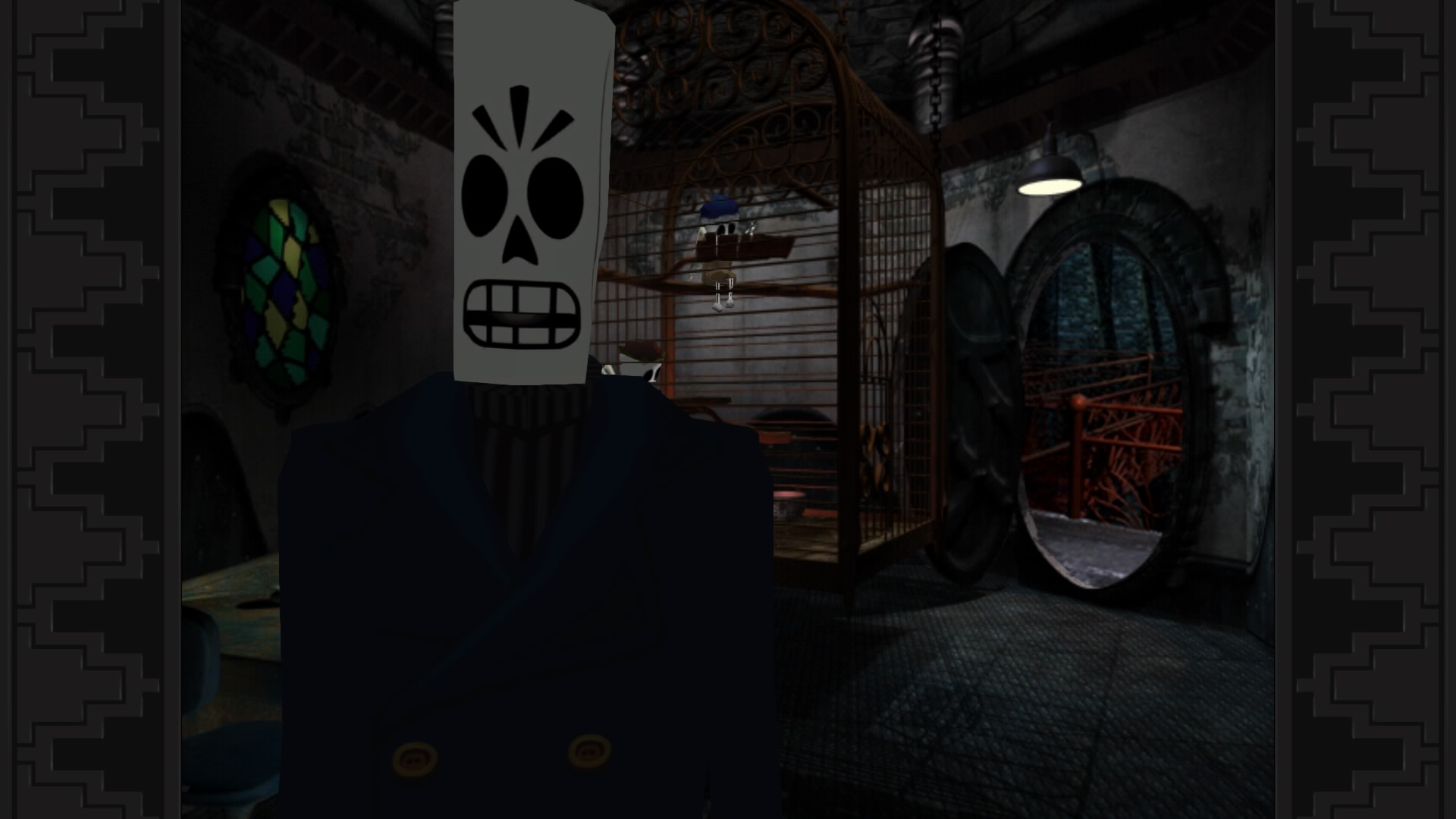 Grim Fandango Remastered is full of interesting characters, such as the protagonist, Manny Calavera.