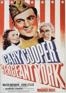 Yep, this is a real poster. If it looks like WW2 Propoganda Posters, that's because Sergeant York came out in 1941.