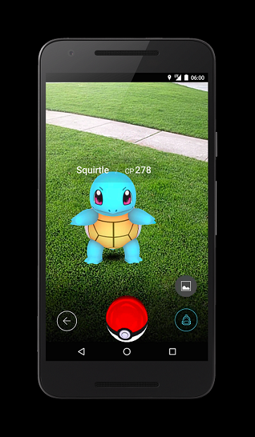 Pokemon Go uses augmented reality (AR) so you can catch Pokemon in the real world.
