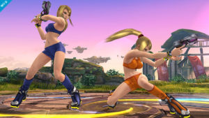 See, look at this. Somebody went and made a Samus bikini mod for SSB. Wait, no. Nintendo actually did this. *Facepalm*