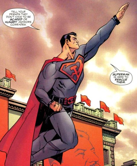 It's Supes fighting for Truth, Justice and Communism. Deal with it.