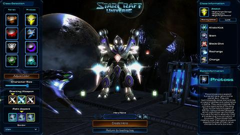 Starcraft Universe gives you several more character customization options than WoW does.