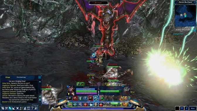 Starcraft Universe uses Starcraft II's game engine, which lets players get up close and personal with familiar units from the series.