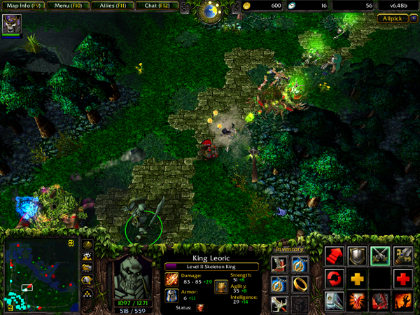 Warcraft III by Blizzard was the first source of the mod, which would later go to Valve.