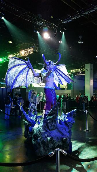 Illidan Stormrage from Warcraft III greets guests to BlizzCon 2016.