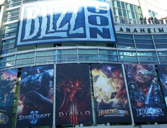 The entrance to BlizzCon 2016, with all their games on display.